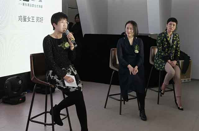 (From the left: UN Women Ms Wu Xinkun, HONA ORGANIC Kang Yanli and egg farmer Ms Zheng Hao)
